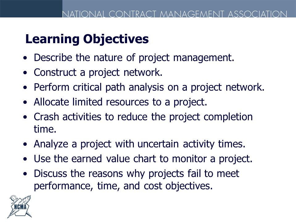 Learning Objectives Describe the nature of project management.