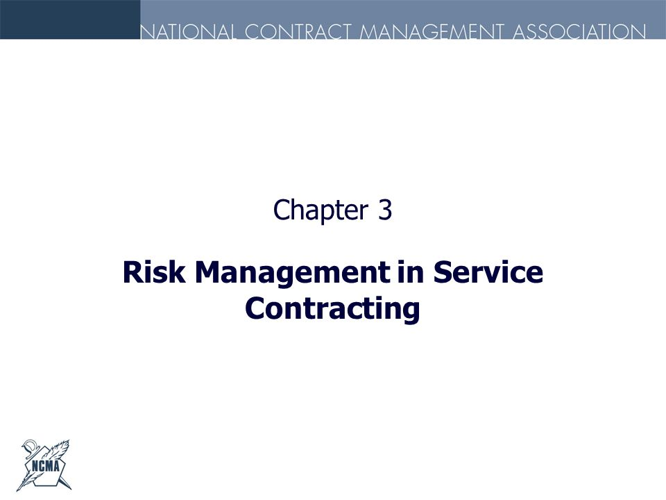 Risk Management in Service Contracting