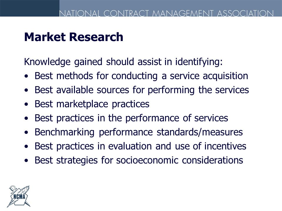 Market Research Knowledge gained should assist in identifying: