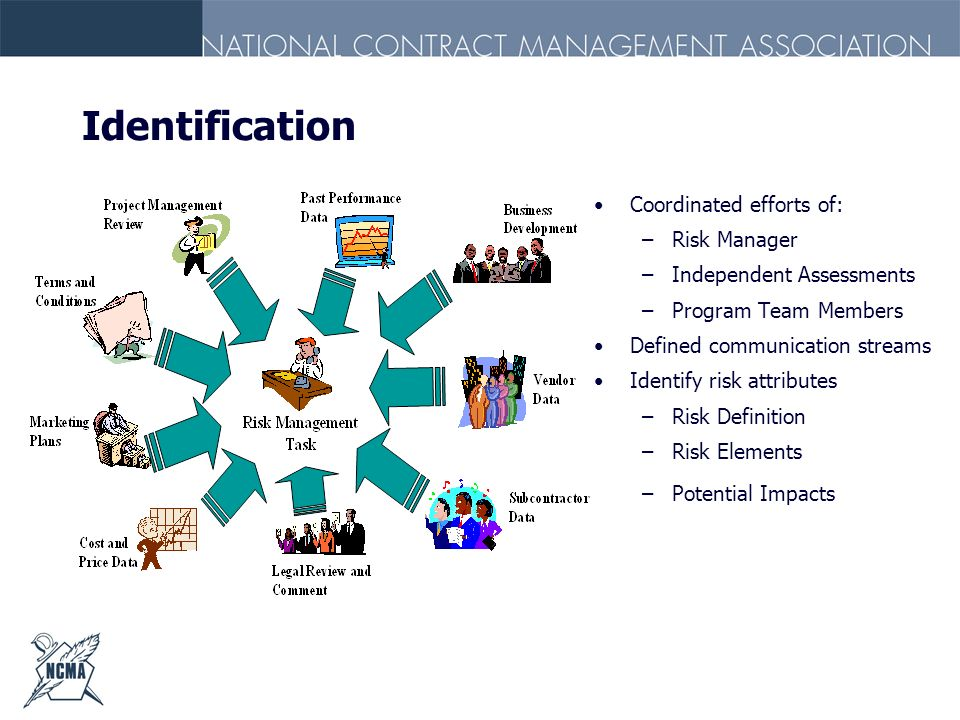 Identification Coordinated efforts of: Risk Manager