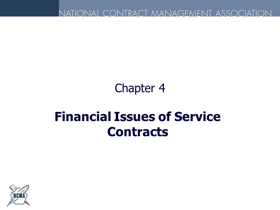 Financial Issues of Service Contracts