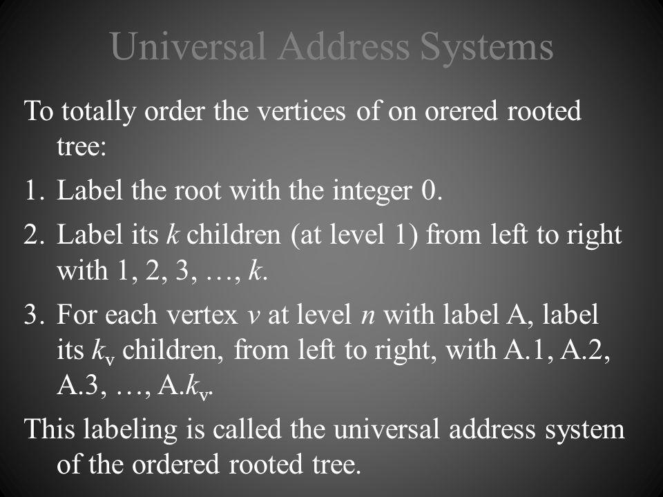 Universal Address Systems
