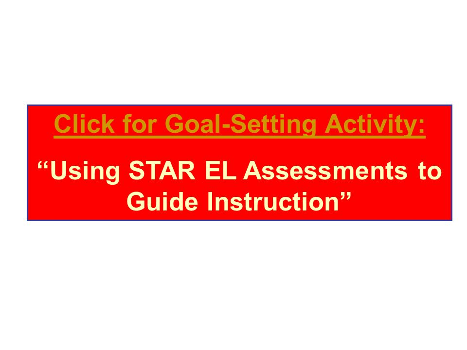 Click for Goal-Setting Activity: