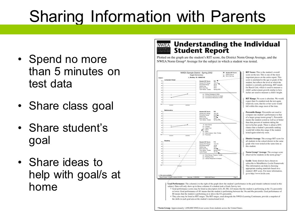 Sharing Information with Parents