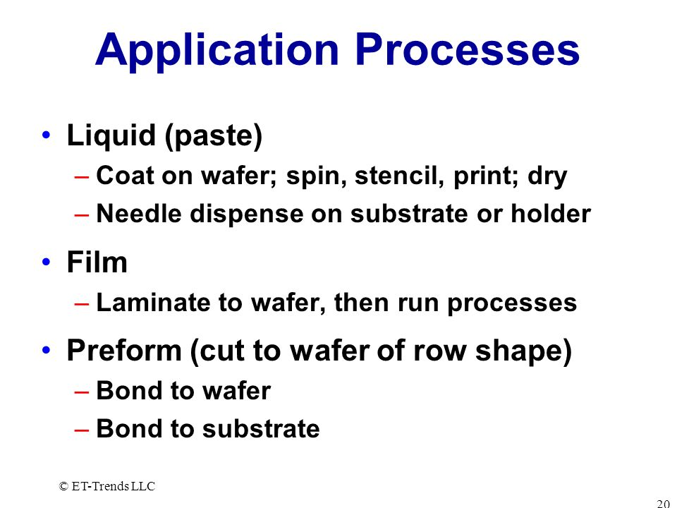 Application Processes