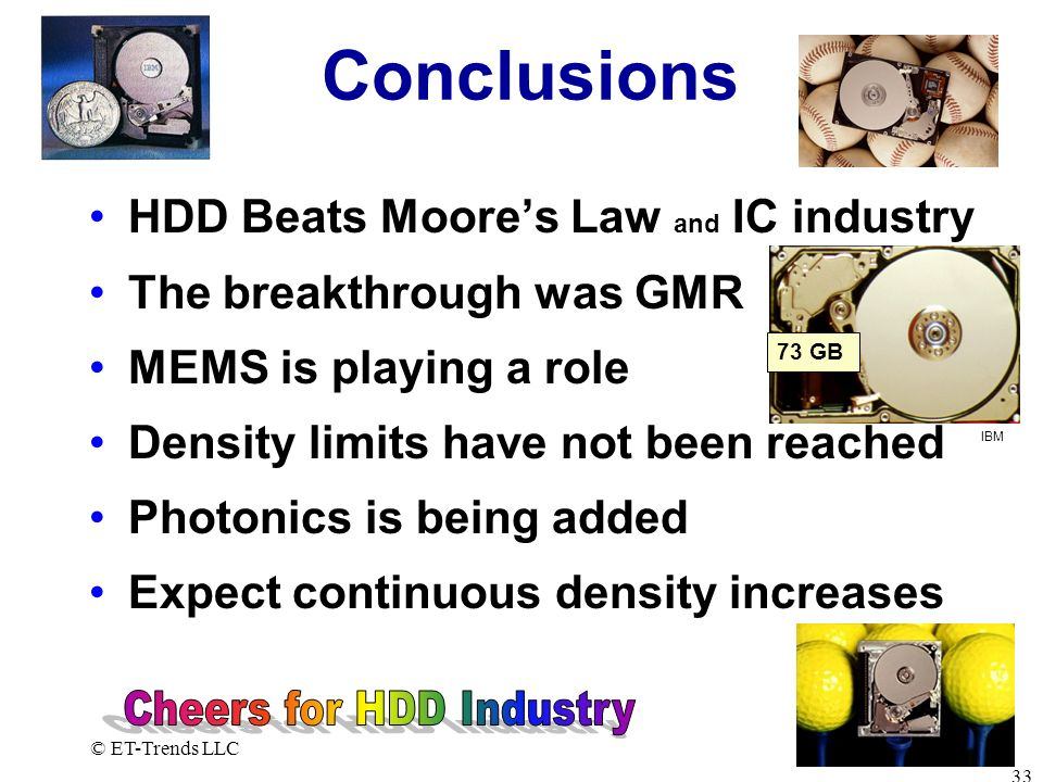 Cheers for HDD Industry