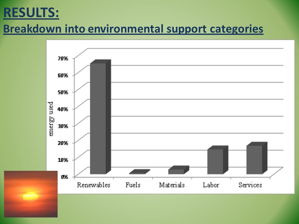 RESULTS: Breakdown into environmental support categories