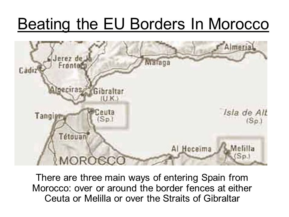 Beating the EU Borders In Morocco