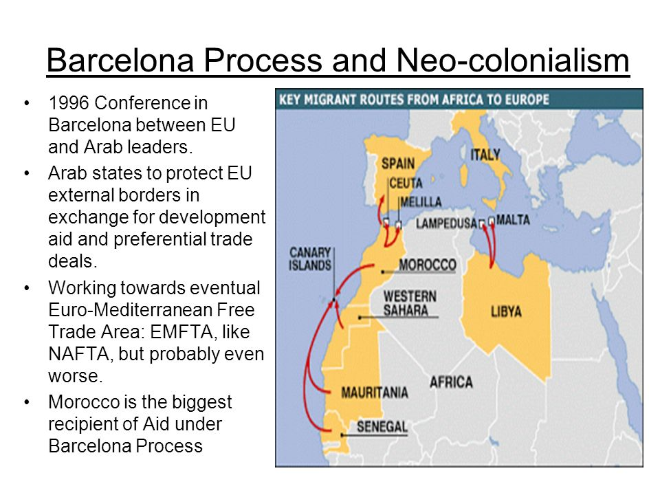 Barcelona Process and Neo-colonialism