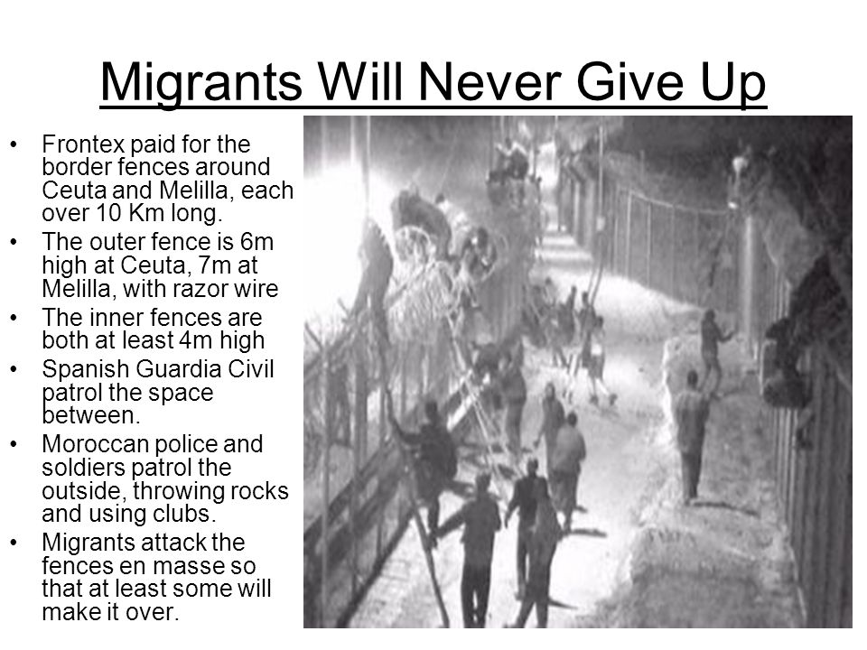 Migrants Will Never Give Up