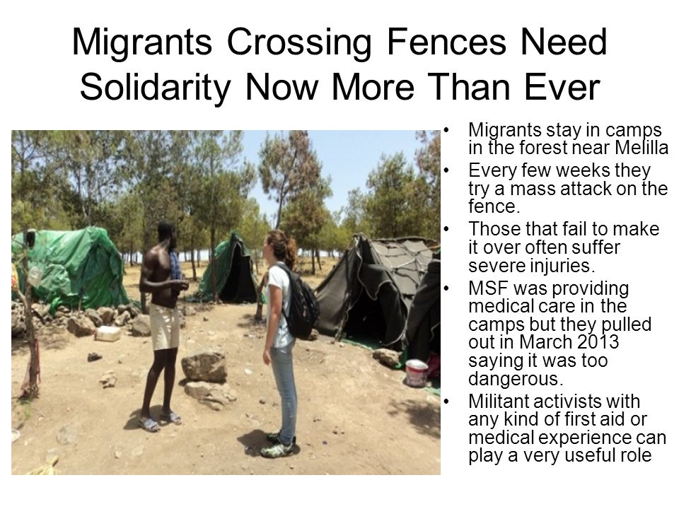 Migrants Crossing Fences Need Solidarity Now More Than Ever