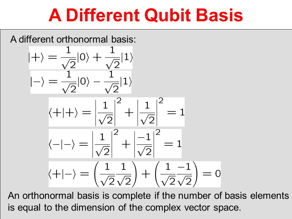 A Different Qubit Basis
