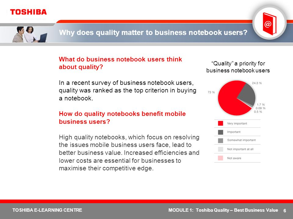 Why does quality matter to business notebook users