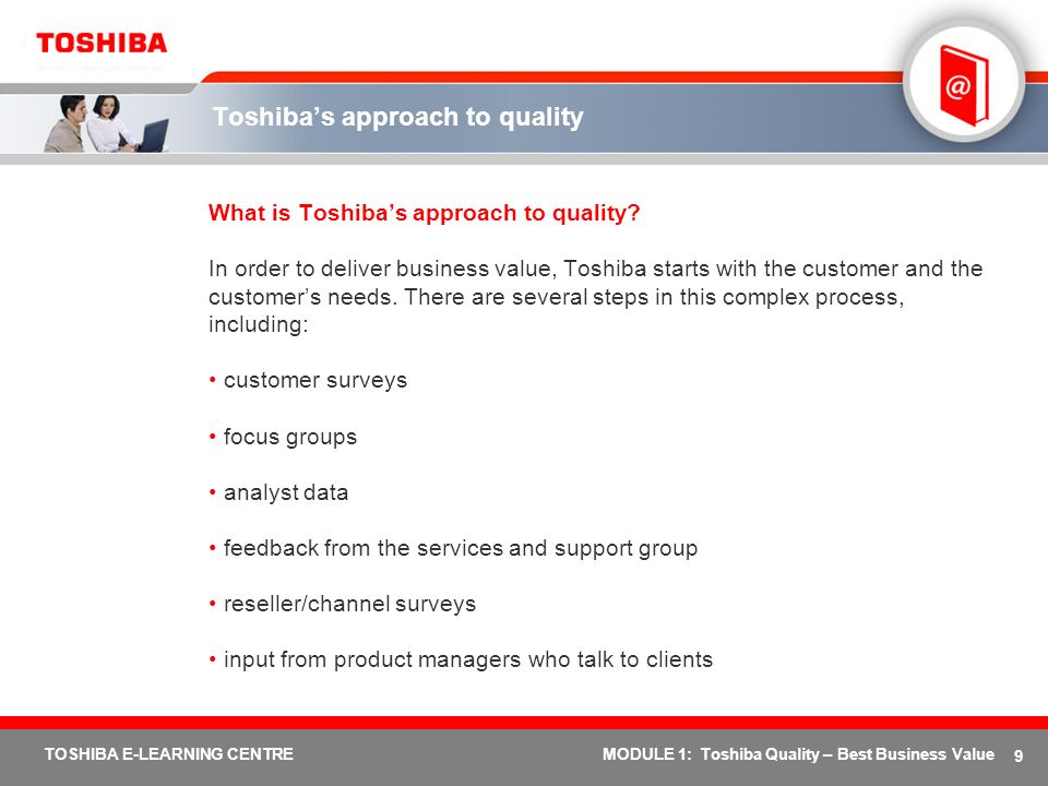 Toshiba's approach to quality