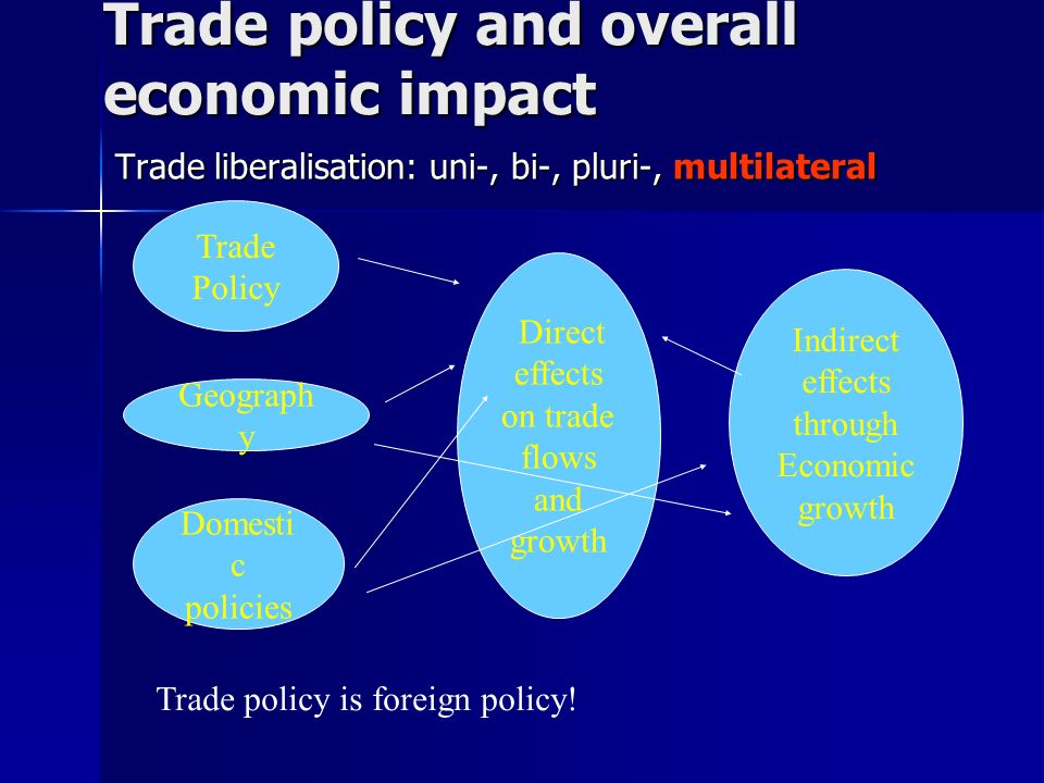 Trade policy and overall economic impact
