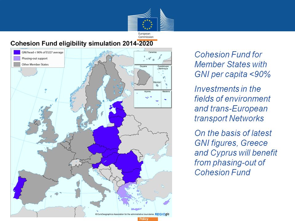 Cohesion Fund for Member States with GNI per capita <90%