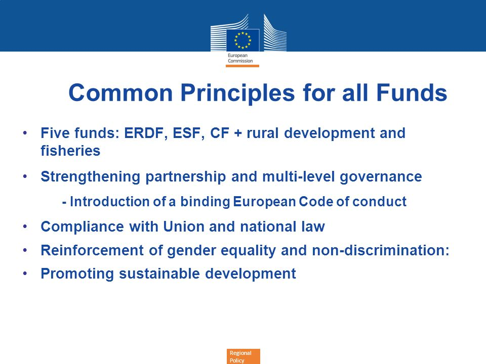 Common Principles for all Funds