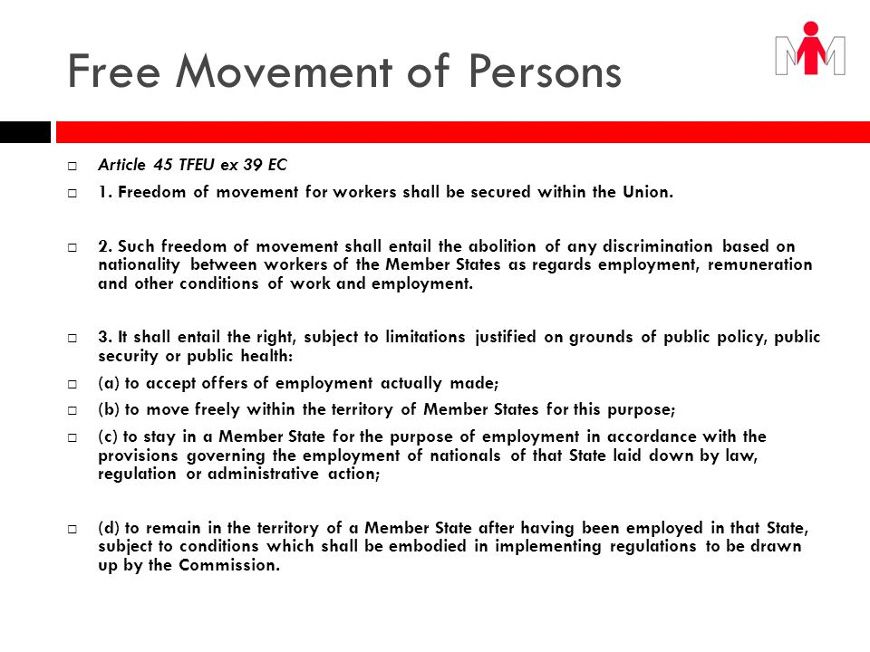 Free Movement of Persons