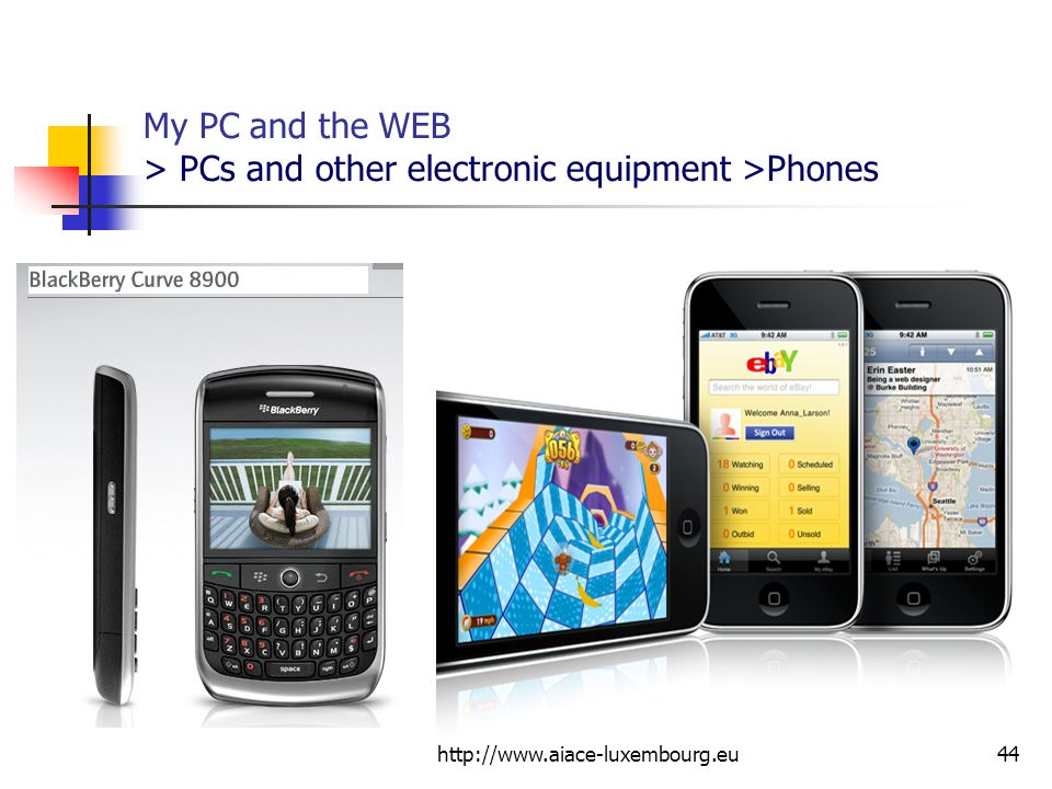 My PC and the WEB > PCs and other electronic equipment >Phones