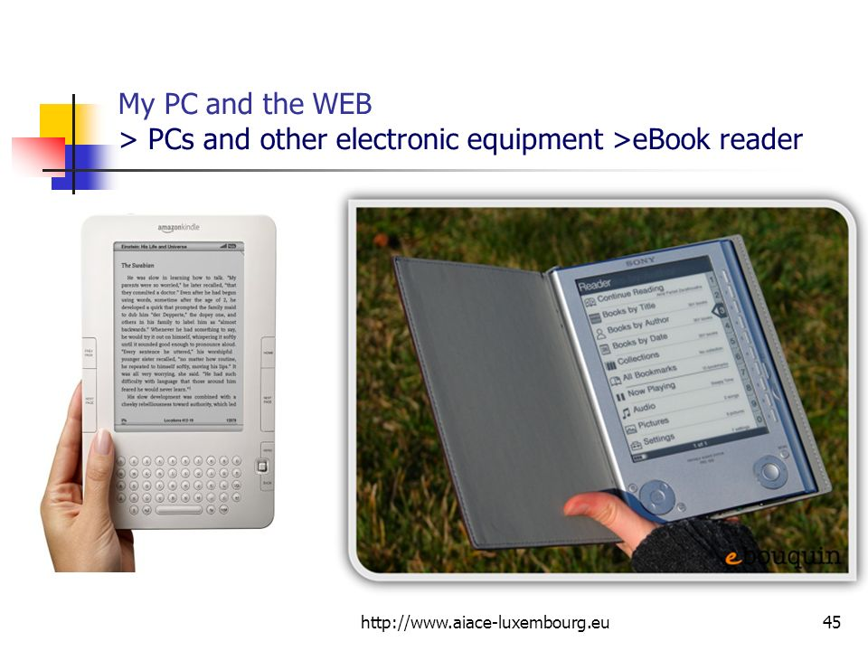 My PC and the WEB > PCs and other electronic equipment >eBook reader