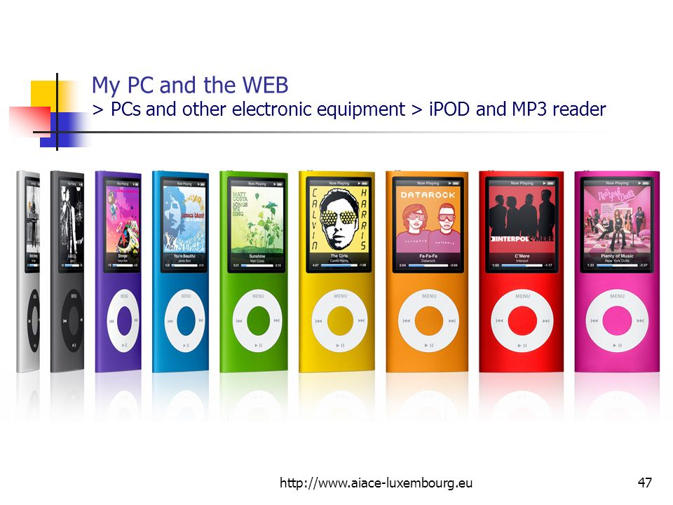 My PC and the WEB > PCs and other electronic equipment > iPOD and MP3 reader