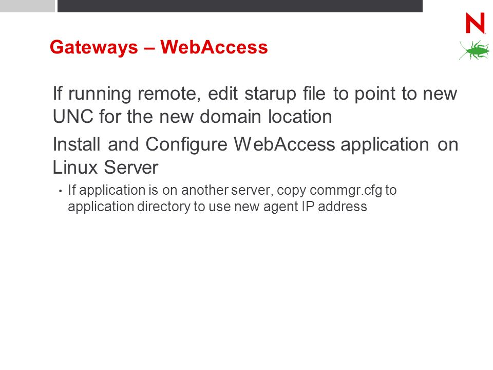 Install and Configure WebAccess application on Linux Server