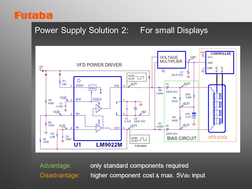 Power Supply Solution 2: For small Displays