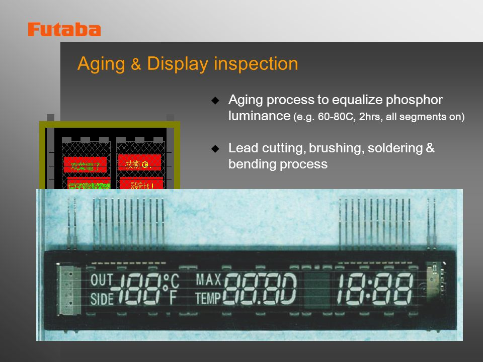 Aging & Display inspection