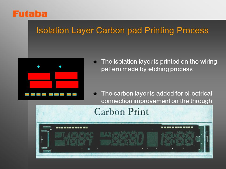 Isolation Layer Carbon pad Printing Process