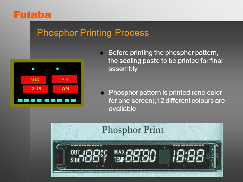 Phosphor Printing Process