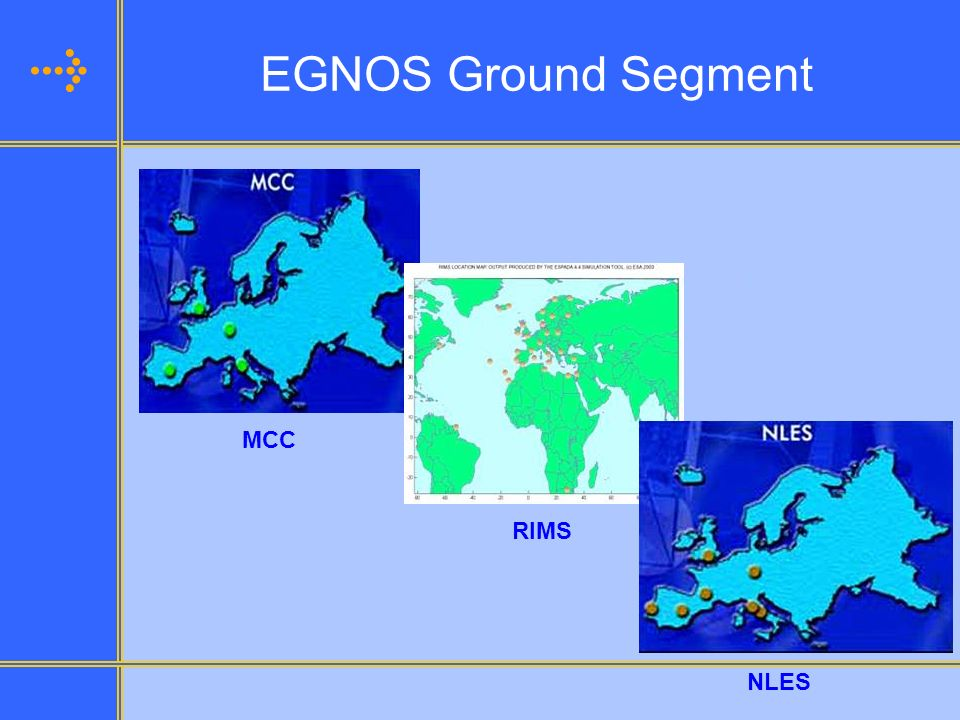 EGNOS Ground Segment MCC RIMS NLES EGNOS Ground Segment MCC