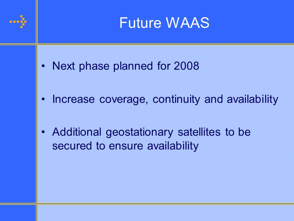 Future WAAS Next phase planned for 2008