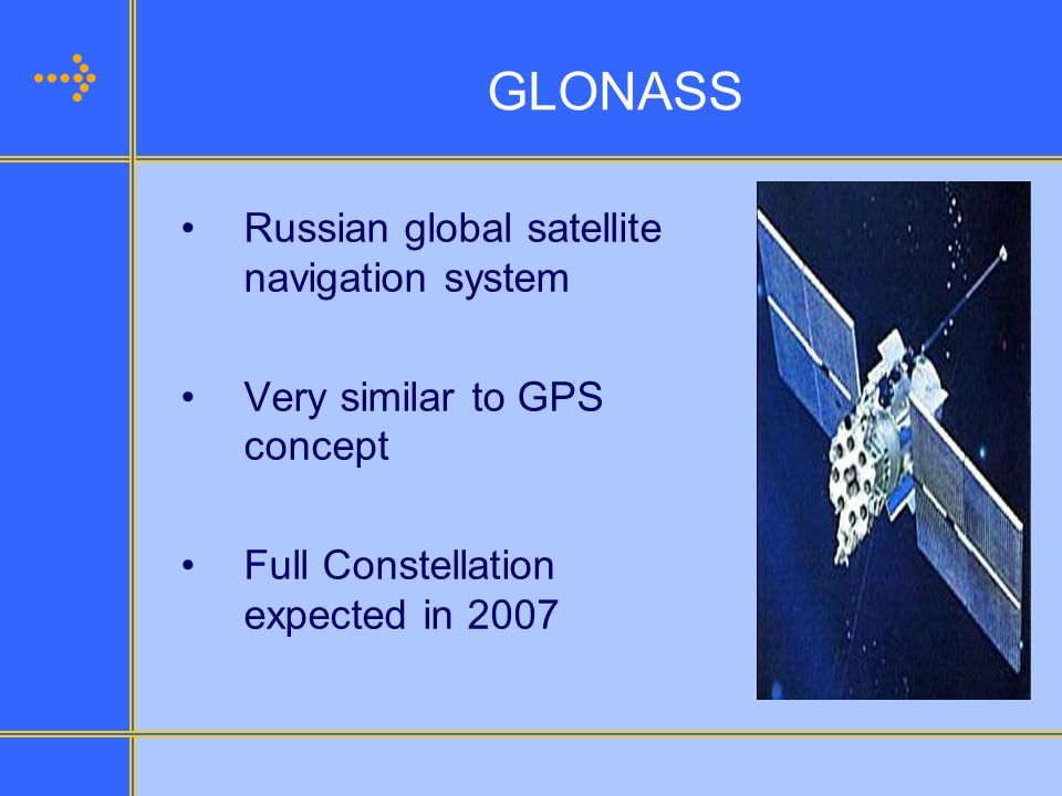 GLONASS Russian global satellite navigation system