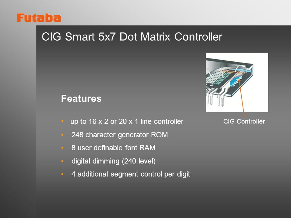 CIG Smart 5x7 Dot Matrix Controller