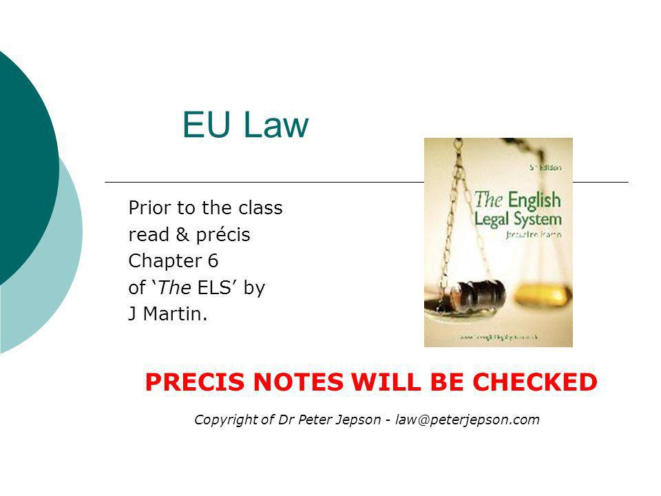 Prior to the class read & précis Chapter 6 of 'The ELS' by J Martin.