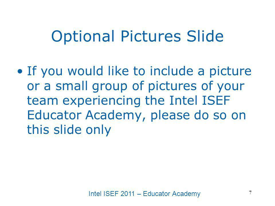 Optional Pictures Slide