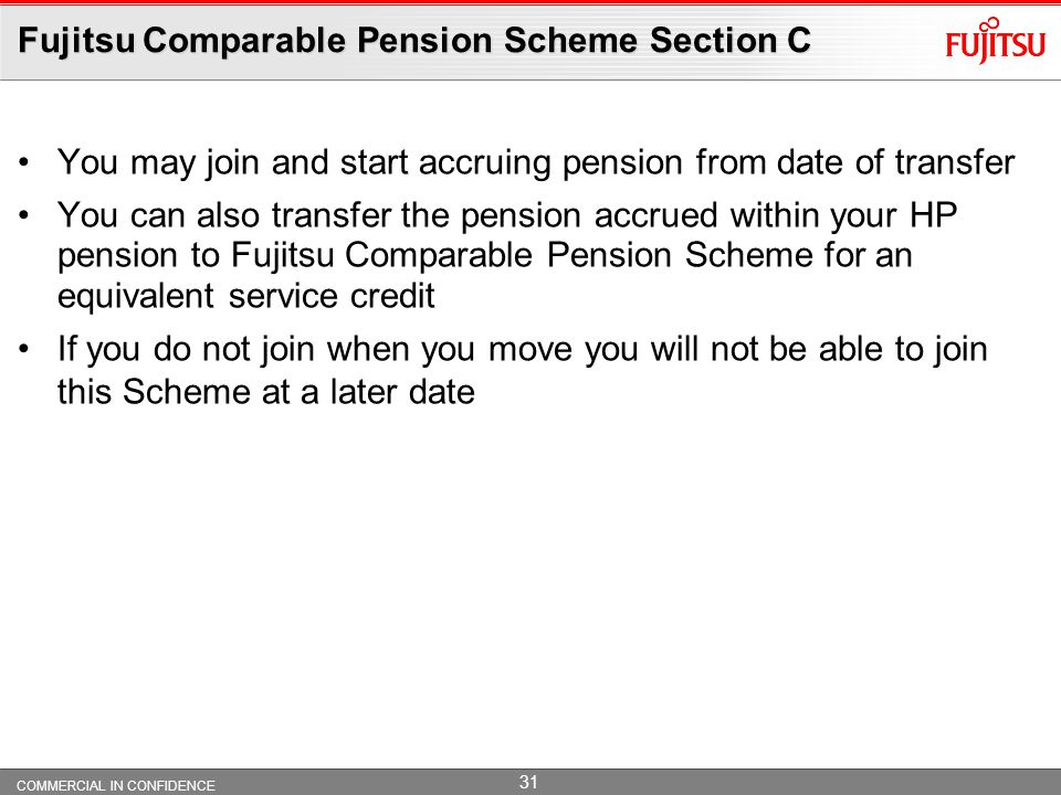 Fujitsu Comparable Pension Scheme Section C