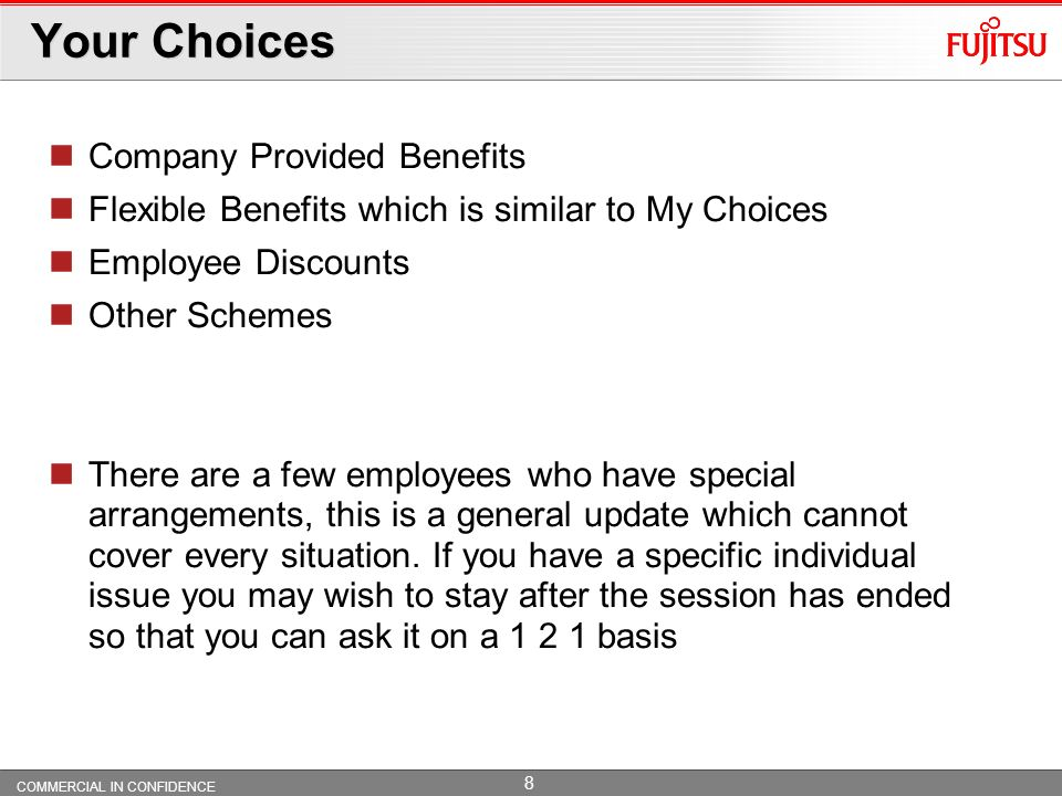 Your Choices Company Provided Benefits