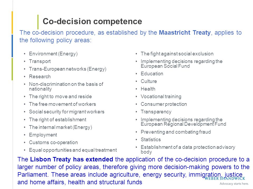Co-decision competence