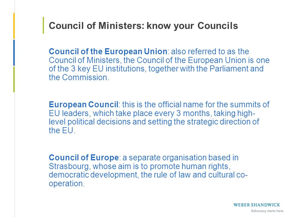 Council of Ministers: know your Councils