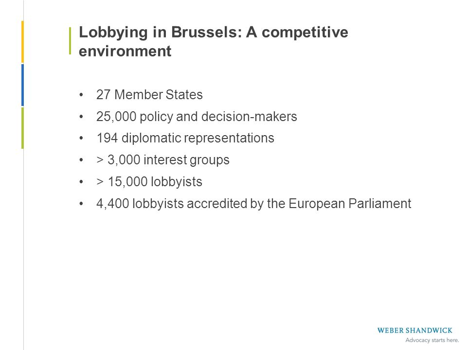 Lobbying in Brussels: A competitive environment