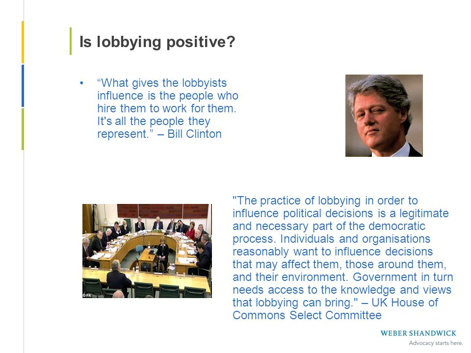 Is lobbying positive