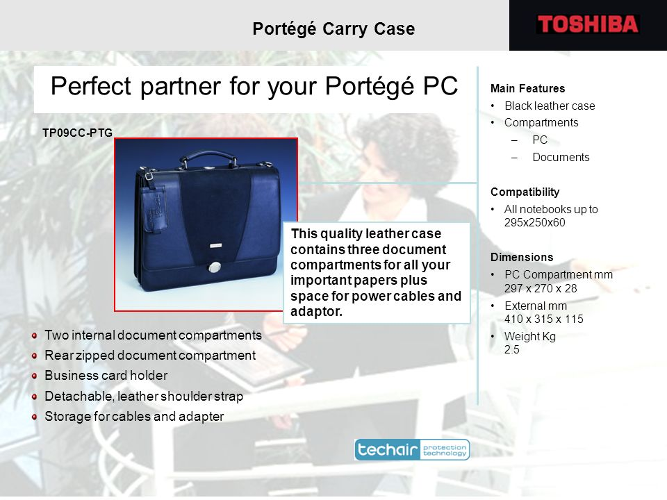 Perfect partner for your Portégé PC