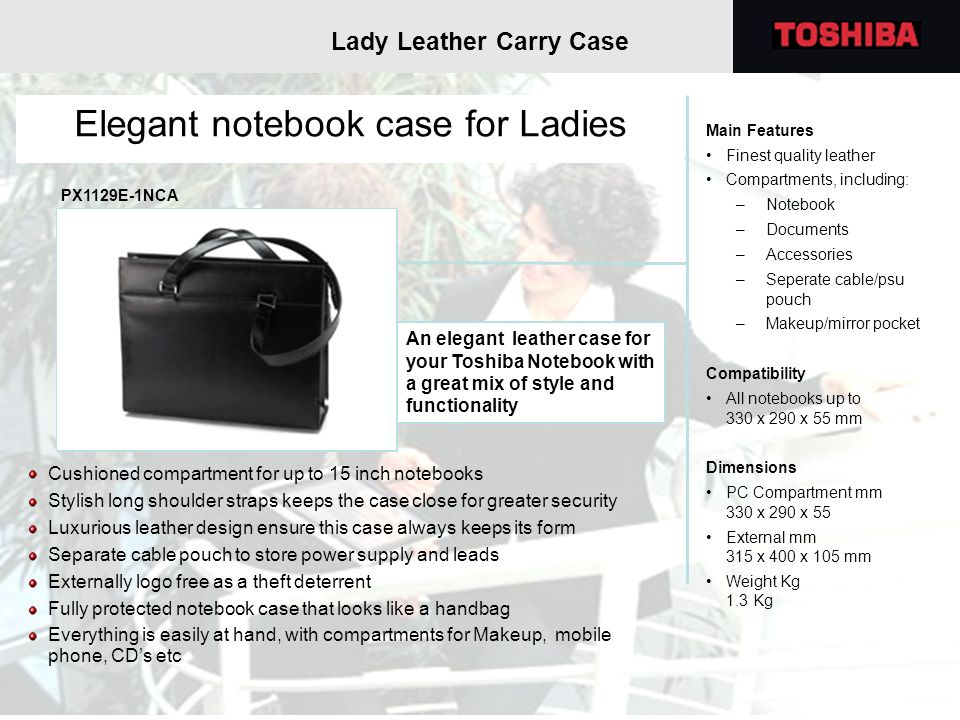 Elegant notebook case for Ladies