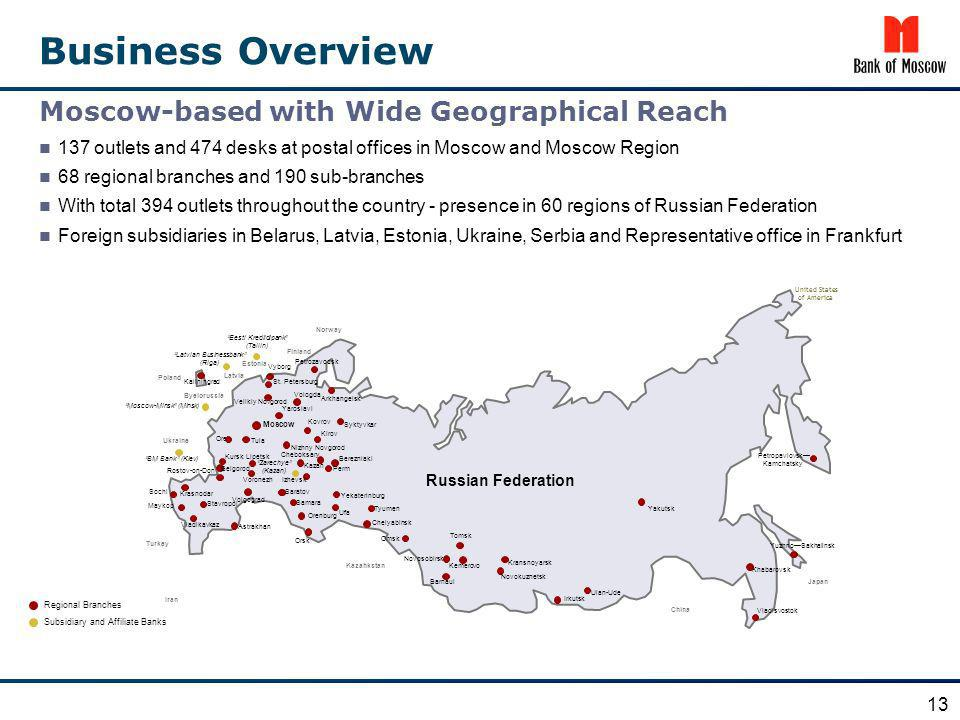 Business Overview Moscow-based with Wide Geographical Reach