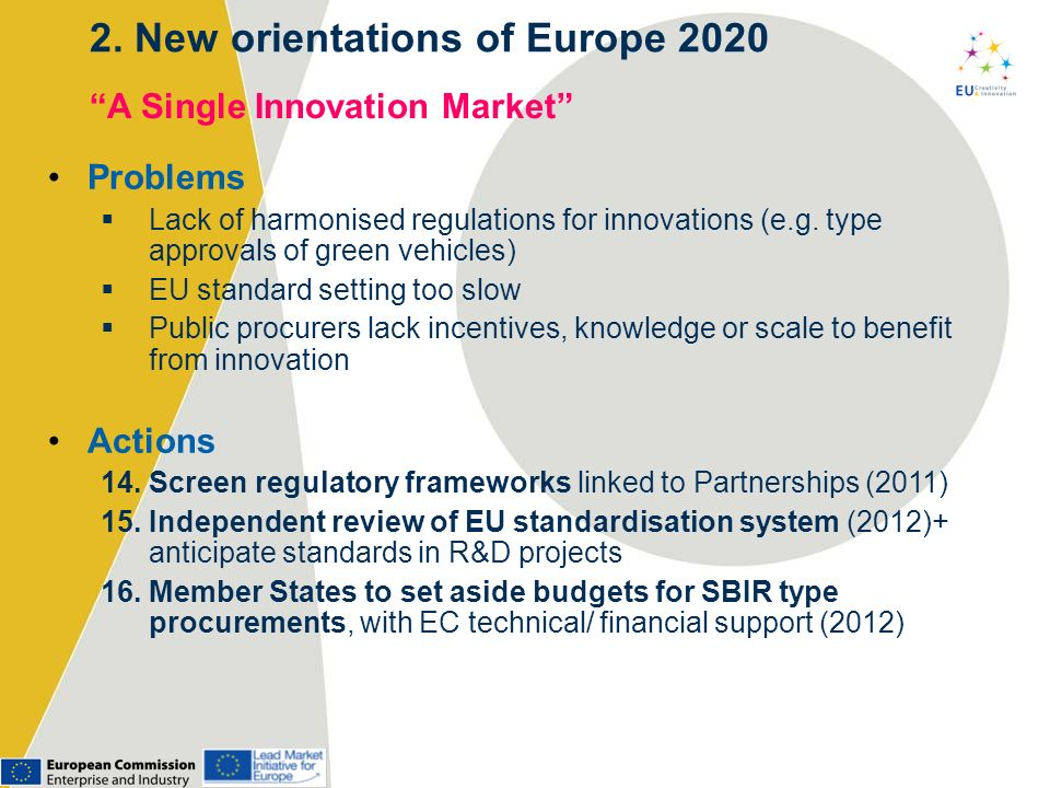 2. New orientations of Europe 2020