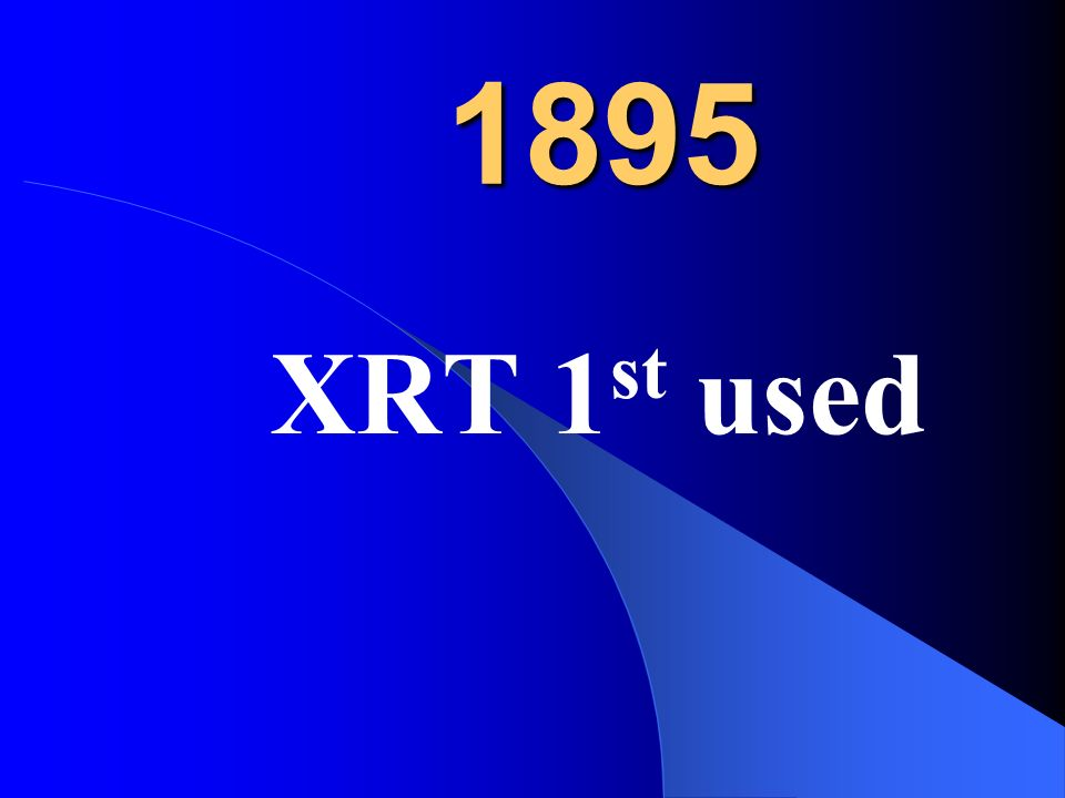 1895 XRT 1st used