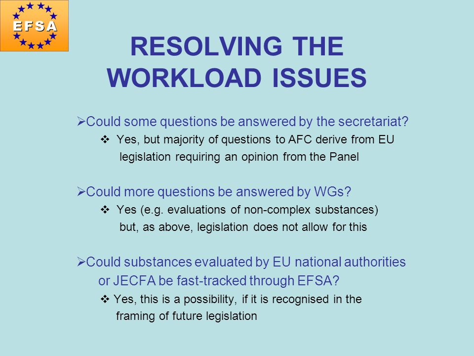 RESOLVING THE WORKLOAD ISSUES