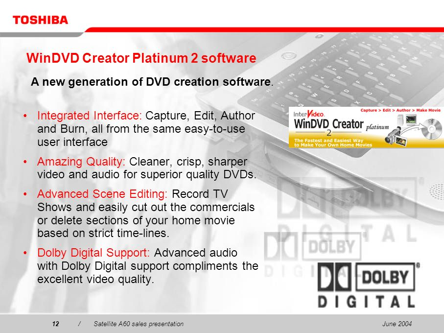 WinDVD Creator Platinum 2 software