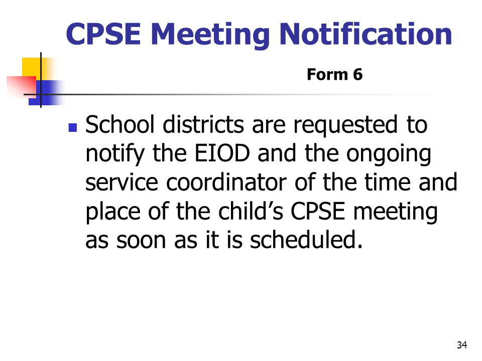 CPSE Meeting Notification Form 6